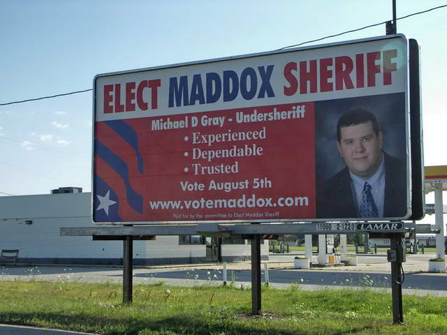 Who is running against 'Opie Maddox' in the 2008 Democratic primary?