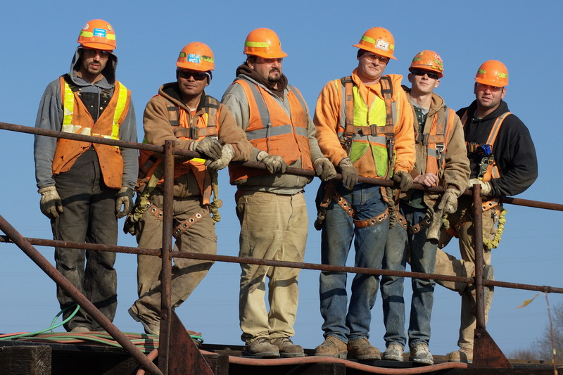 Osmose Inc. Manistique Mi. railroad bridge repair crew, 11/18/09
